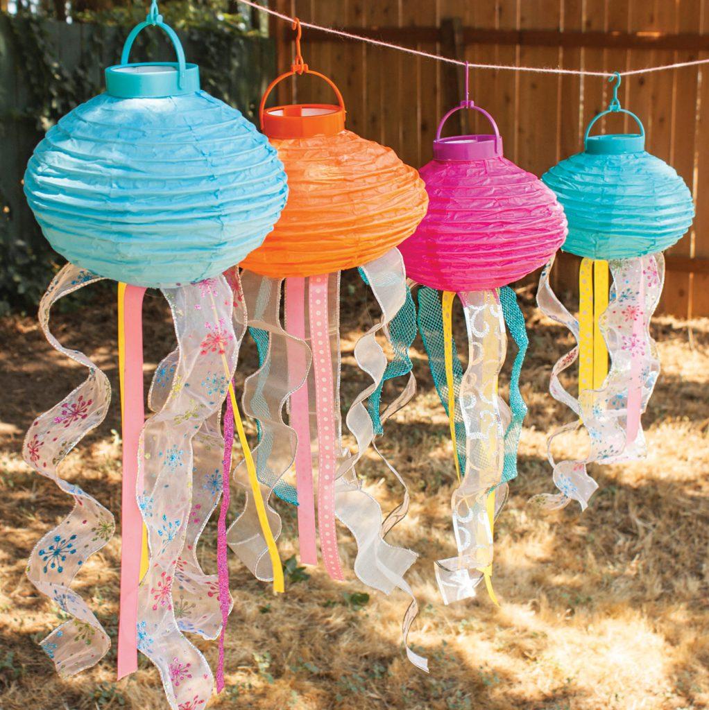 DIY hanging lantern jellyfish