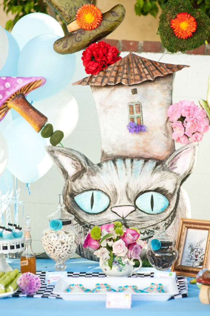 Cheshire Cat Dessert Table Backdrop