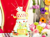 Alice in Wonderland Queen of Hearts Cake