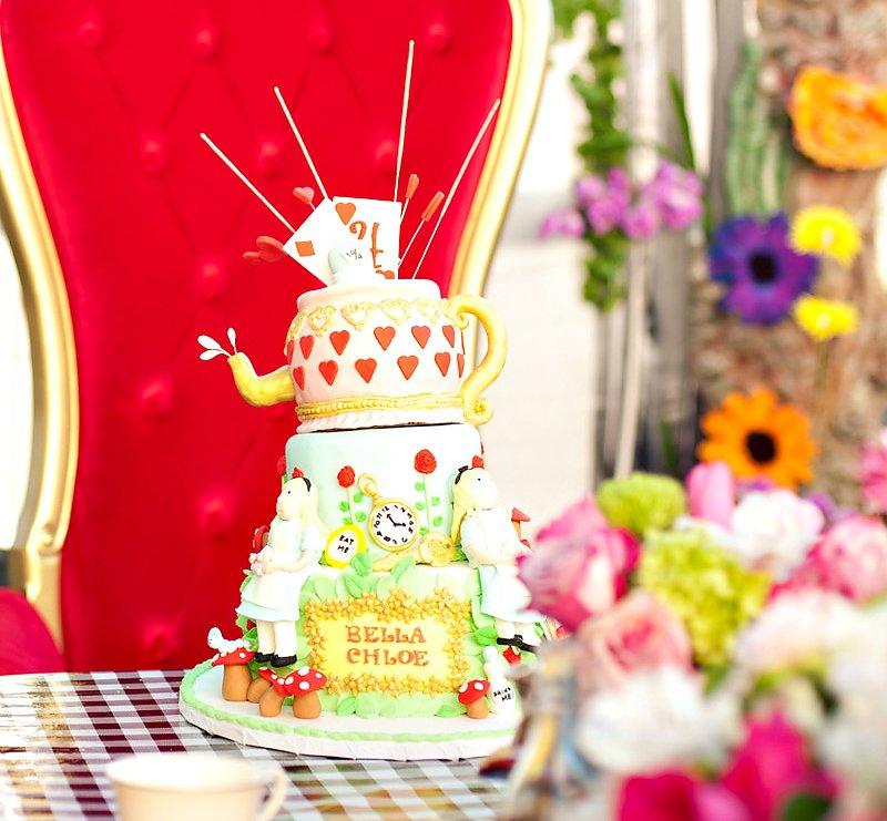 Alice in Wonderland Queen of Hearts Cake