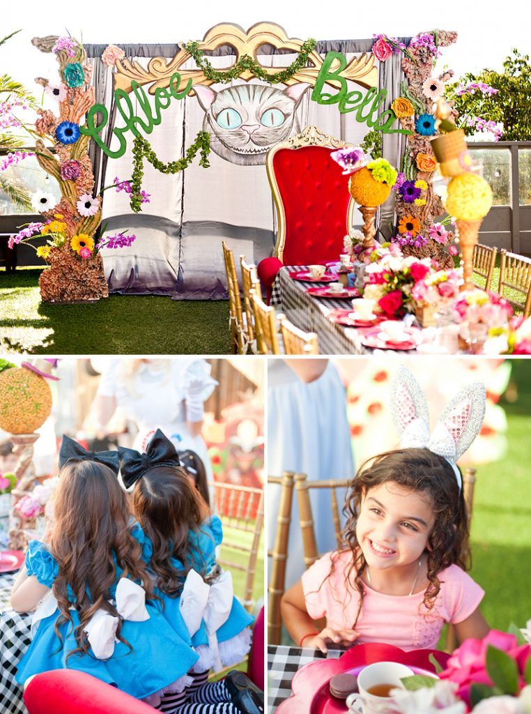 Alice in Wonderland Party Ideas - Photo Backdrop & Costumes