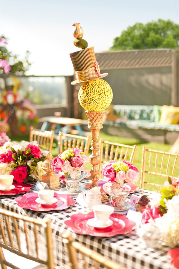 Alice in Wonderland Table Centerpiece Idea