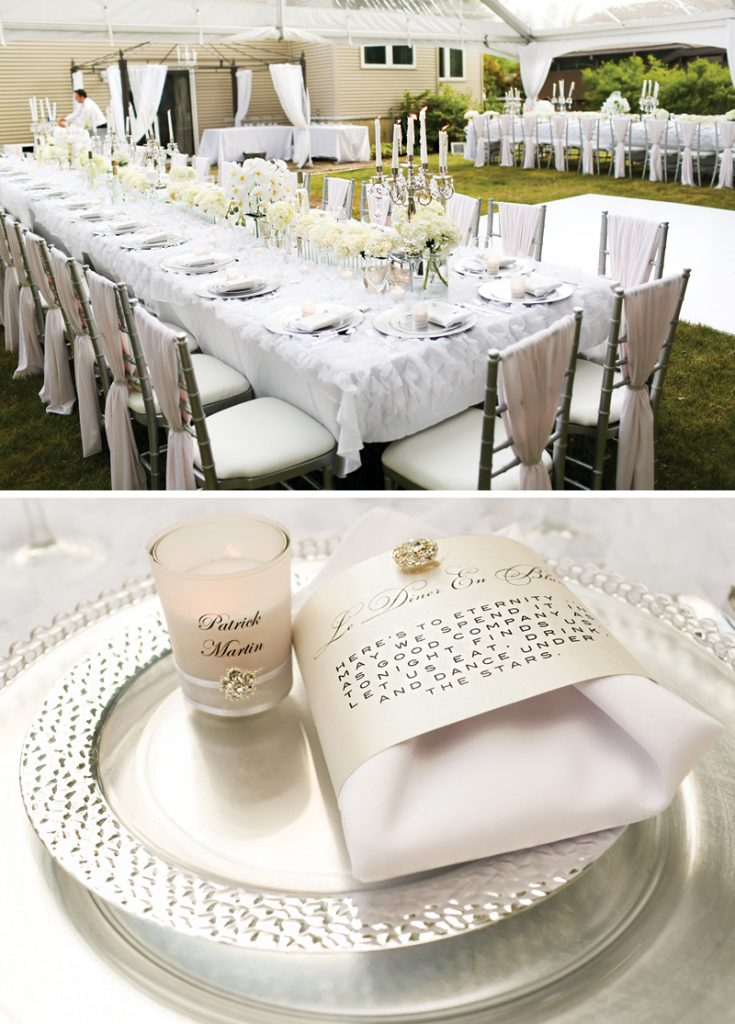 all white party tablescape ideas