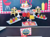 backyard bbq birthday party desserts table