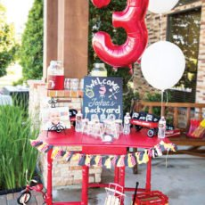 backyard barbecue 3rd birthday party