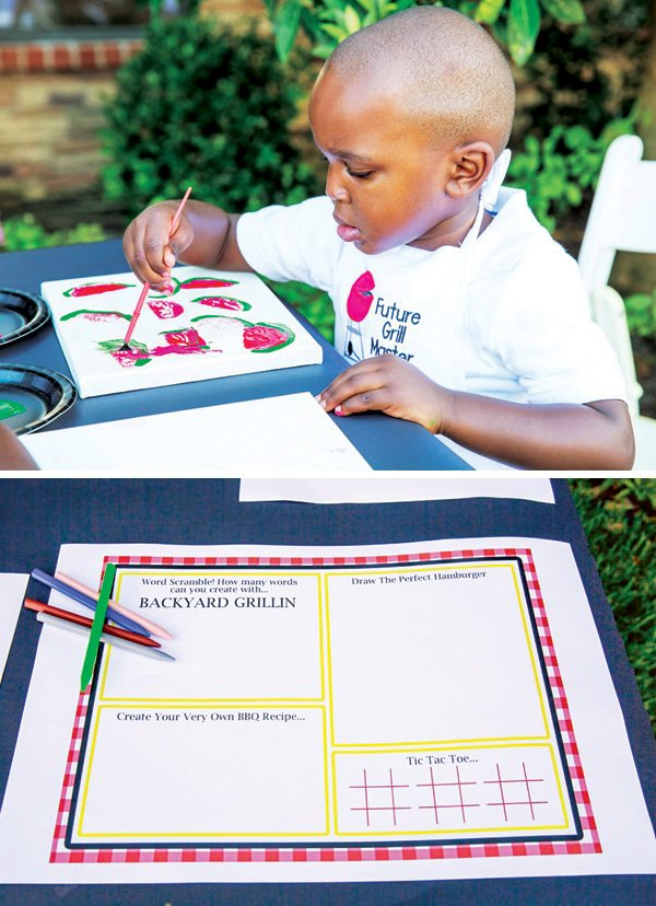 bbq party themed arts and crafts activities