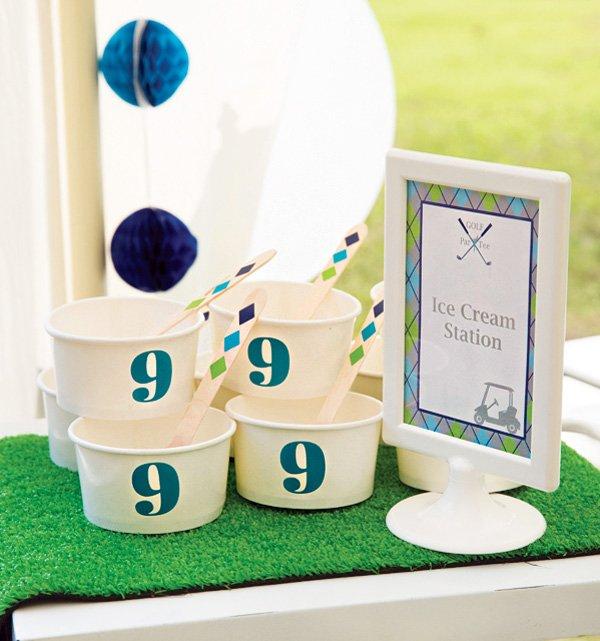 birthday party ice cream sundae station