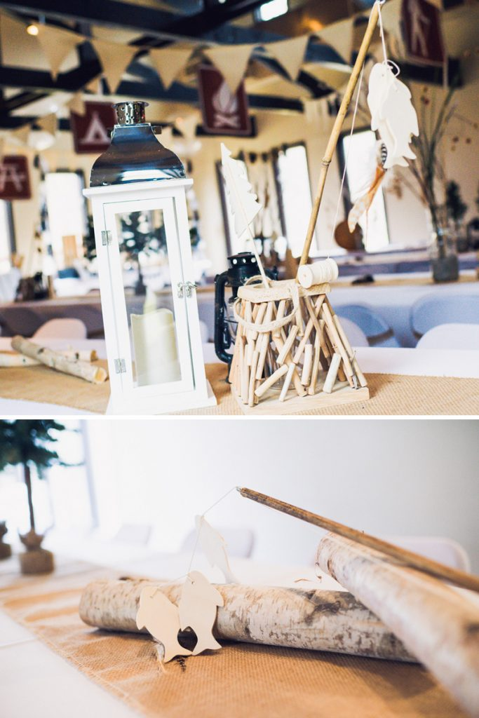 camping party centerpieces