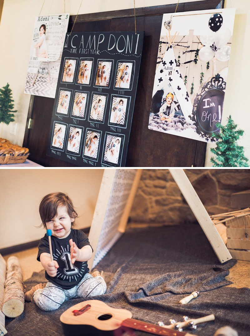personalized first birthday photo sign