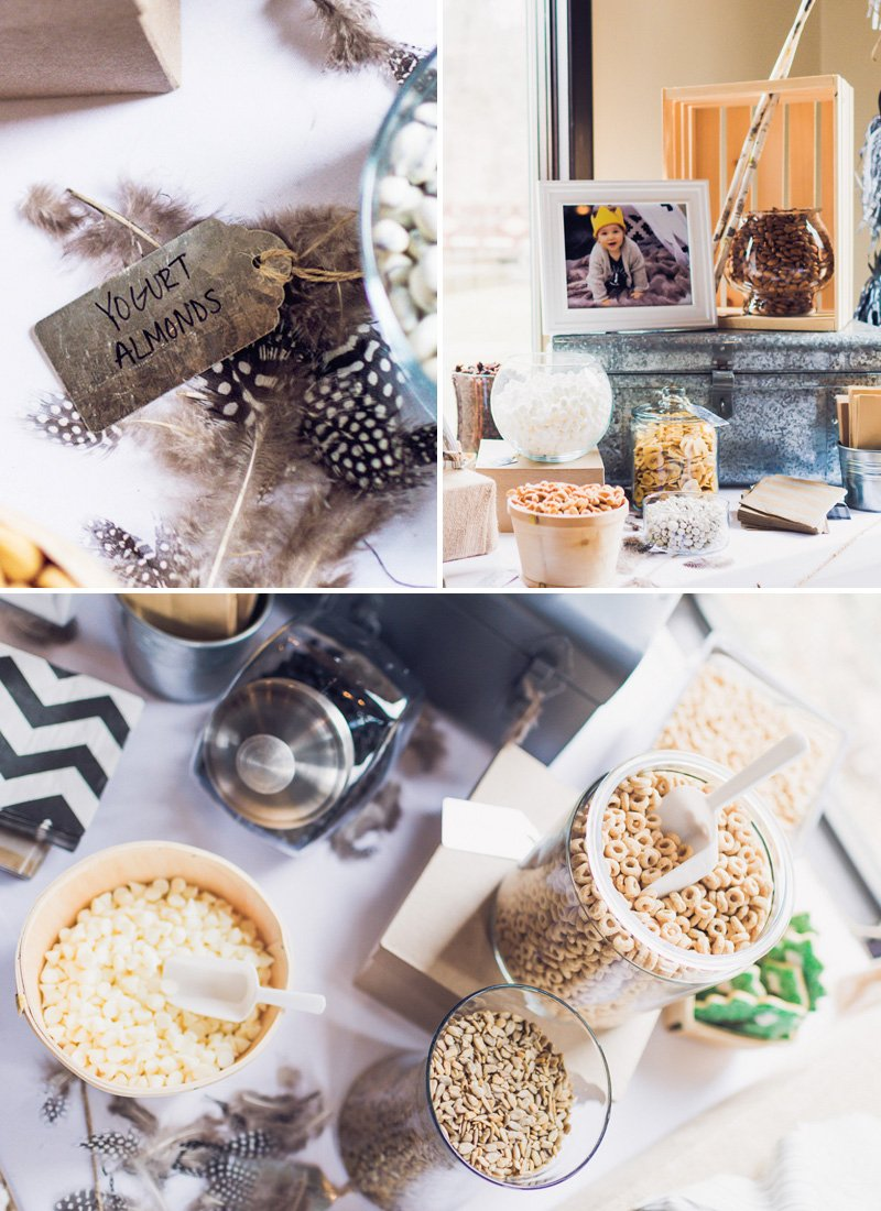 boho party trail mix bar