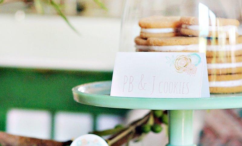 boho chic dessert tent cards