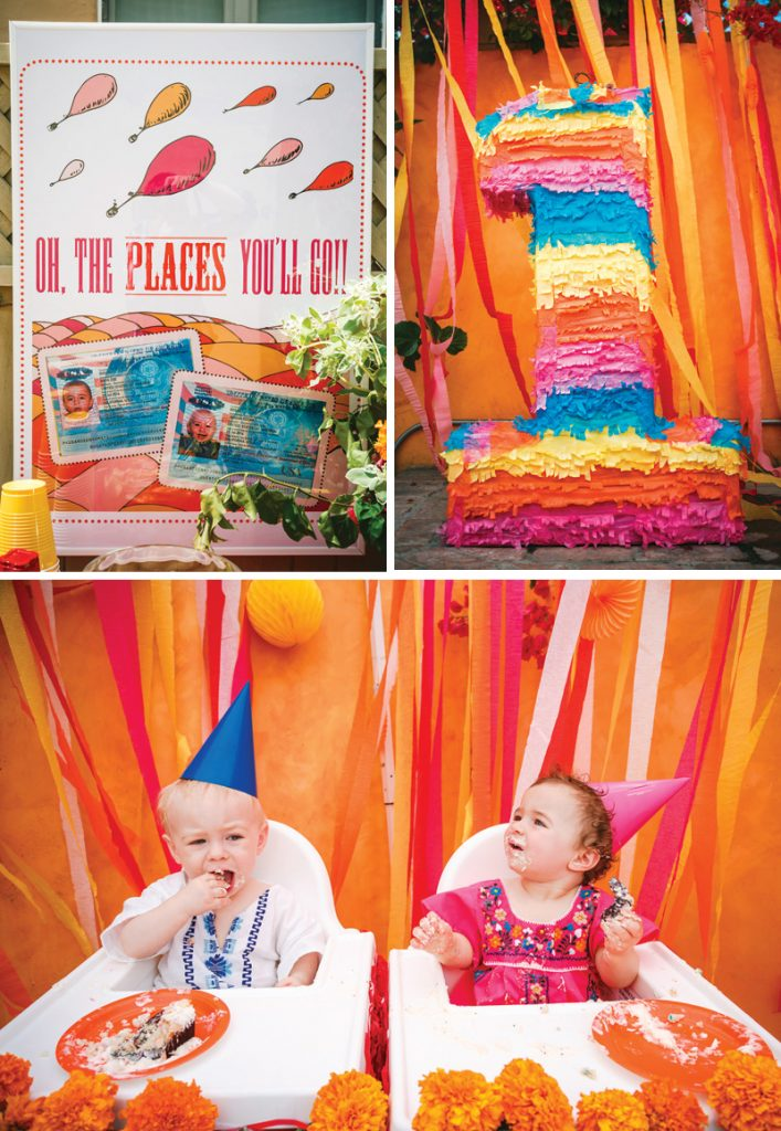 colorful twins fiesta first birthday party