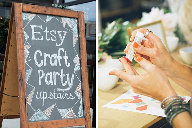 A Chic & Pretty Crafting Party {West Elm + Etsy}