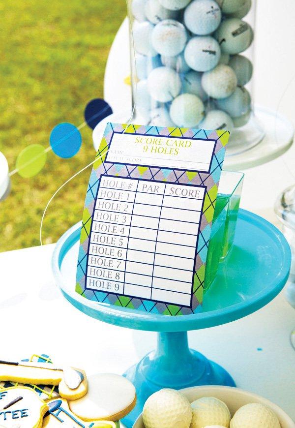 custom argyle golf party score cards