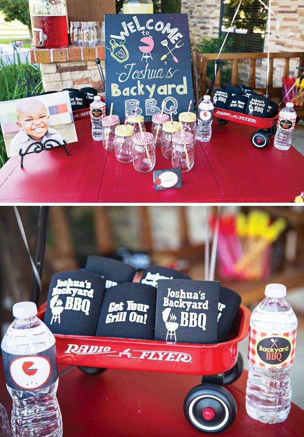 custom grill themed drink koozies