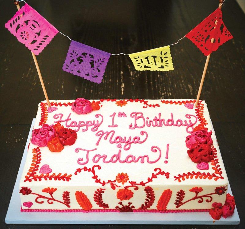 fiesta style first birthday sheet cake