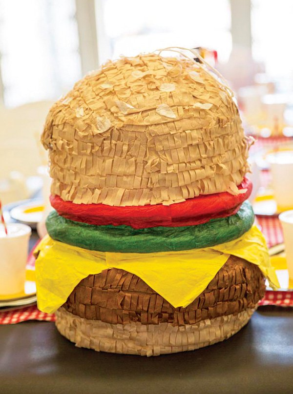 hamburger pinata