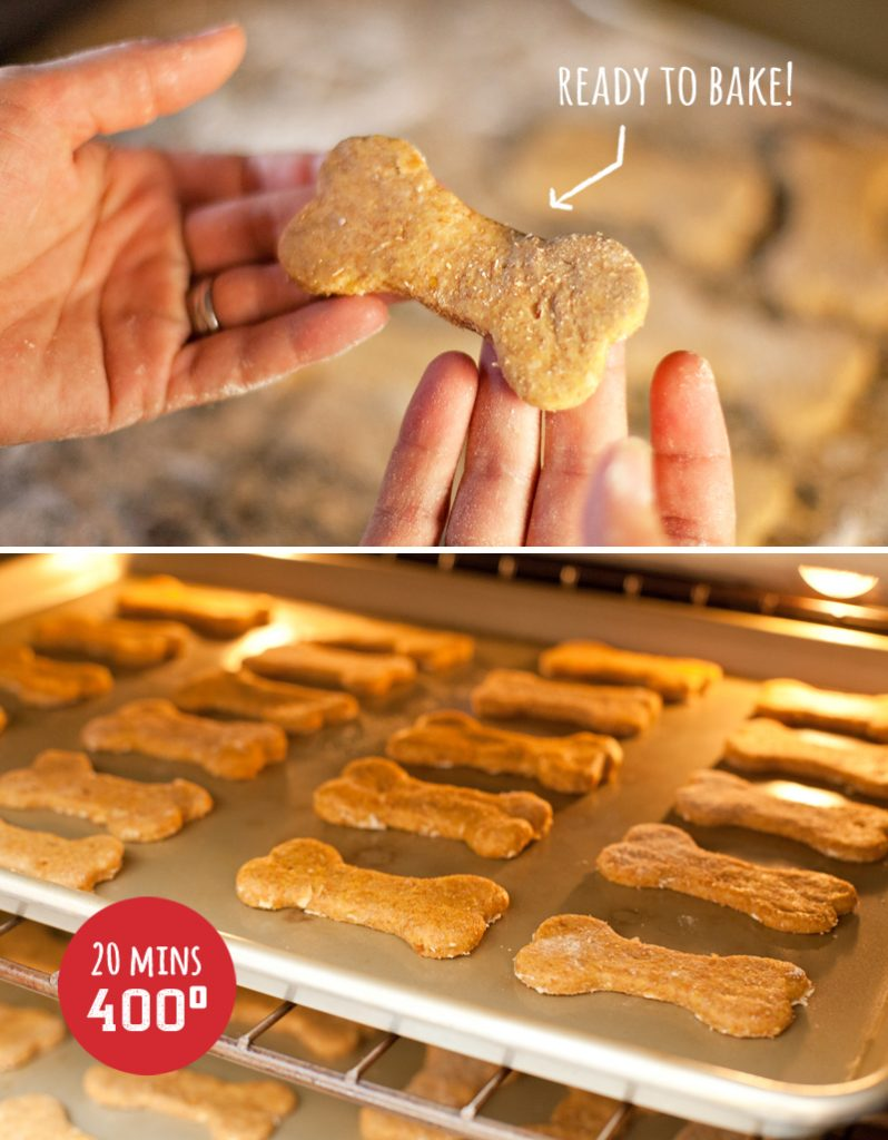 Homemade Dog Biscuits - Baking