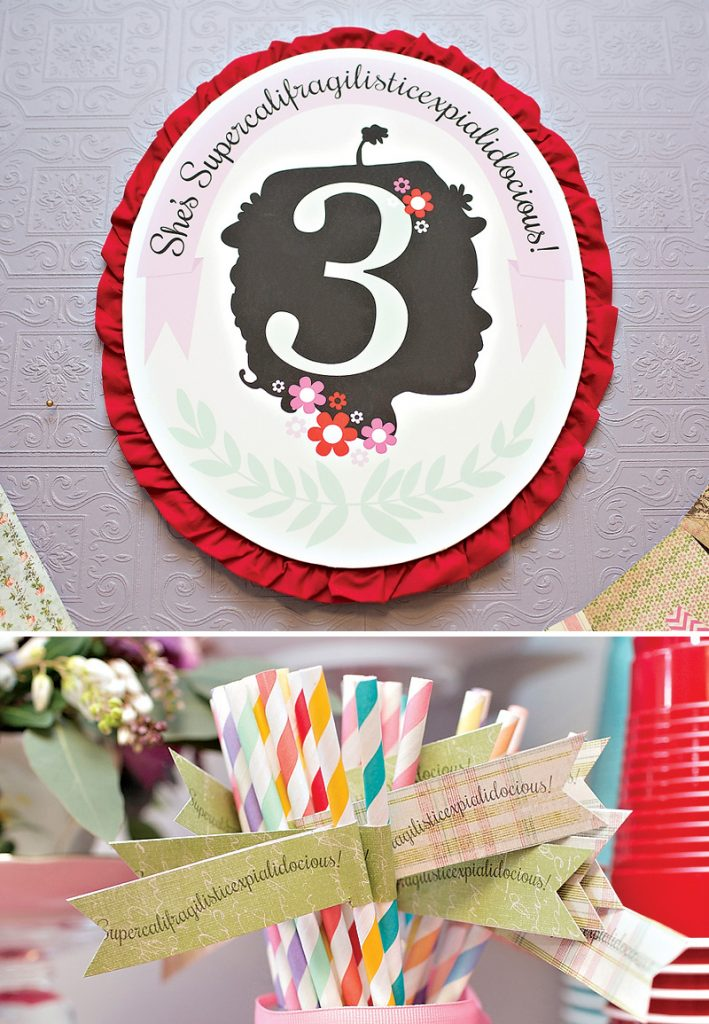 Mary Poppins Birthday Party Sign