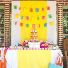 popsicle party dessert table
