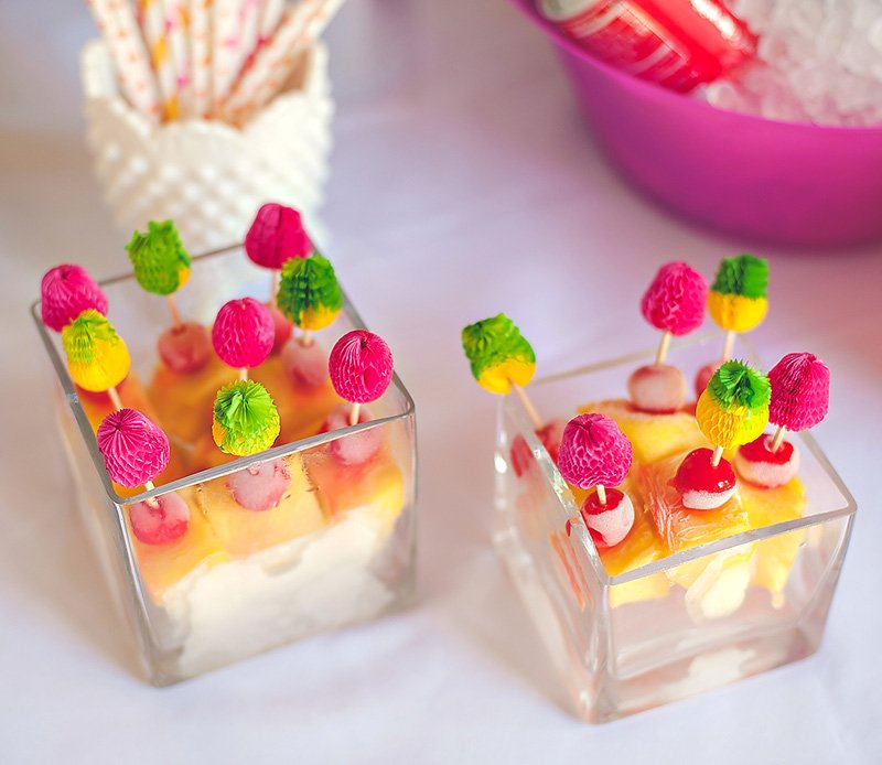 frozen pina colada fruit stirrers