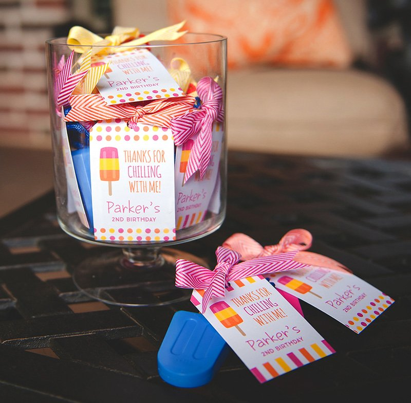 popsicle party favors - popsicle bubbles