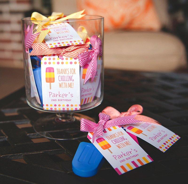 popsicle party favors - popsicle bubbles