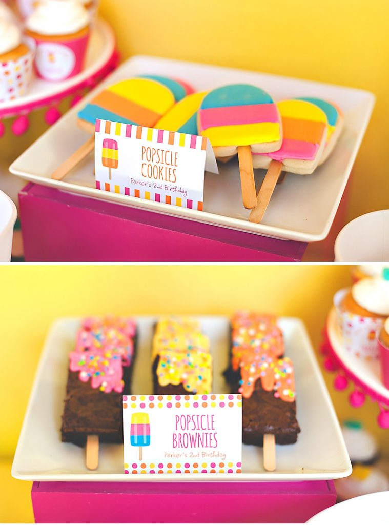 popsicle cookies and popsicle brownies