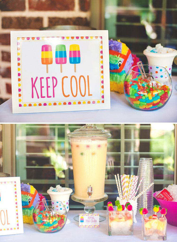 popsicle party drink station