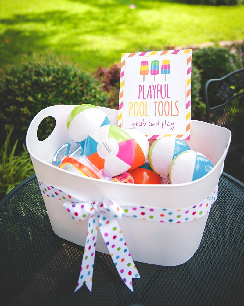 pool party beach ball toy favors