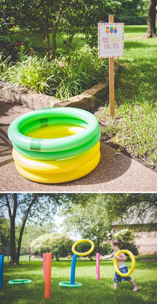 diy pool noodle ring toss
