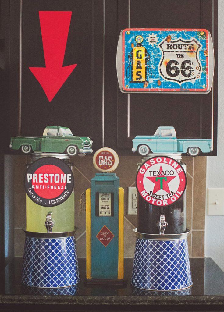 Vintage Garage Inspired Adult Birthday Party Hostess