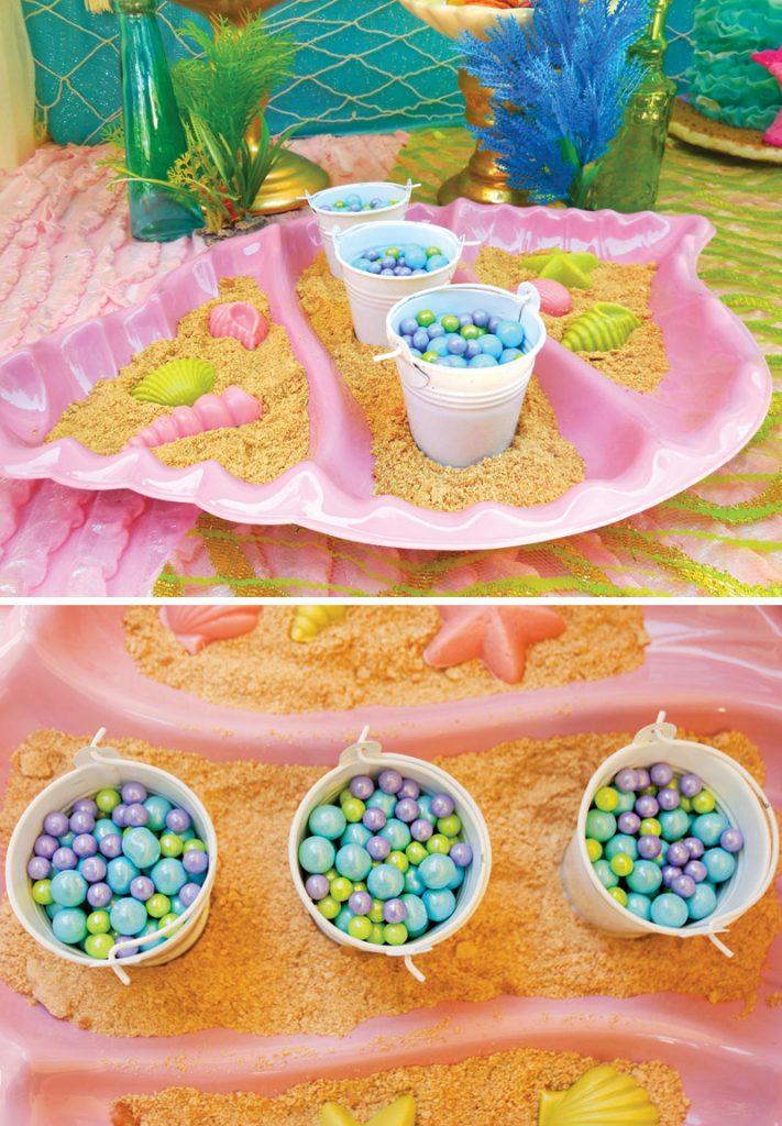 ocean themed dessert display