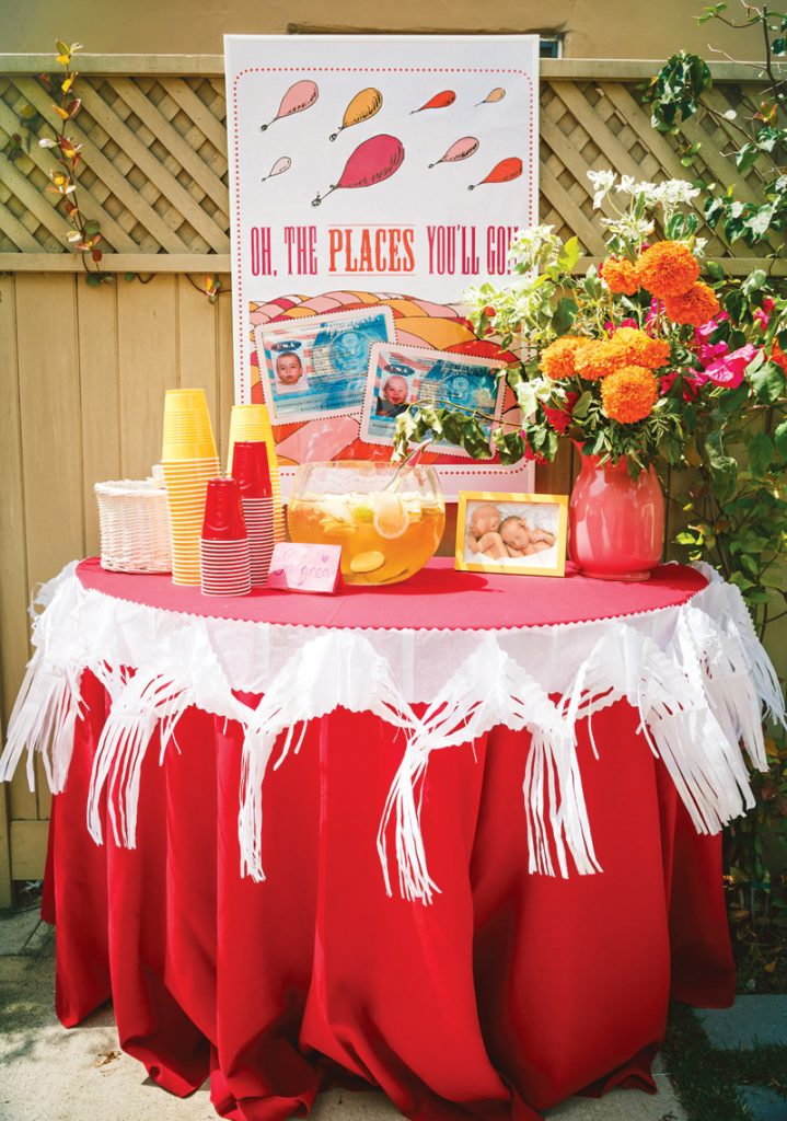 oh the places you'll go first birthday party