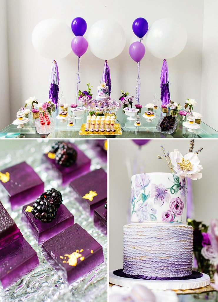 ombre purple party