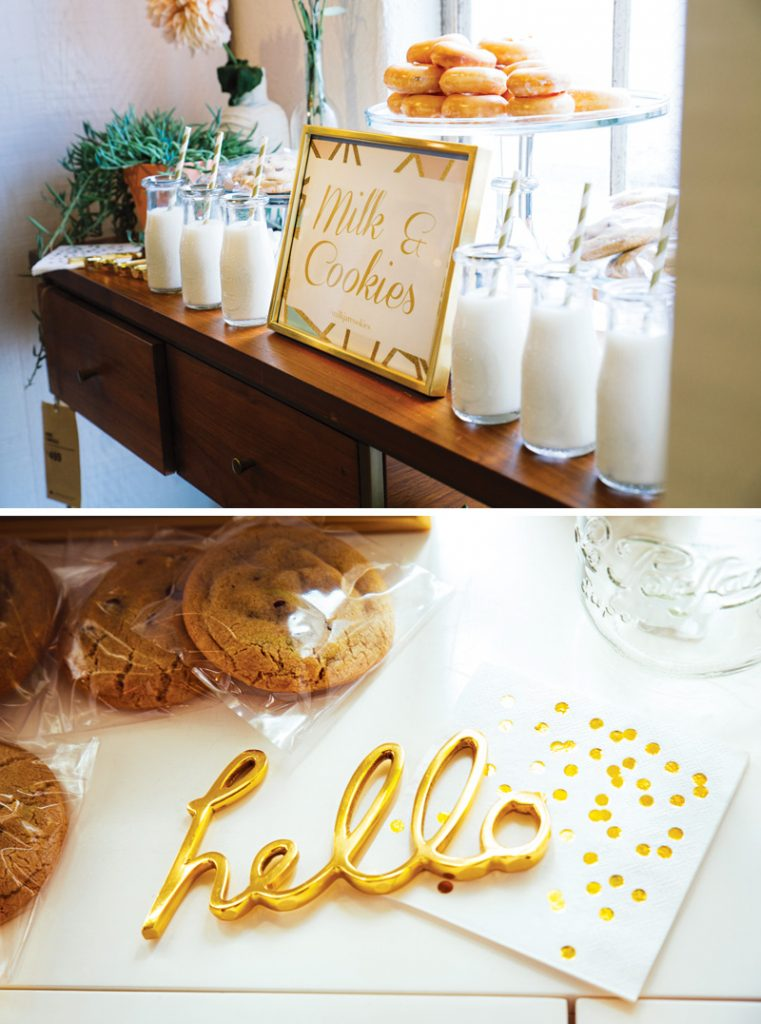 party's milk and cookie bar