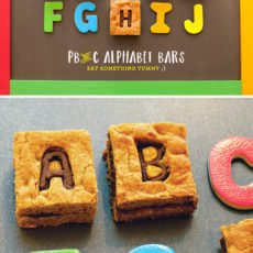 Peanut Butter & Chocolate Alphabet Cookie Bars Tutorial