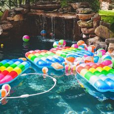 popsicle pool floaties summer party