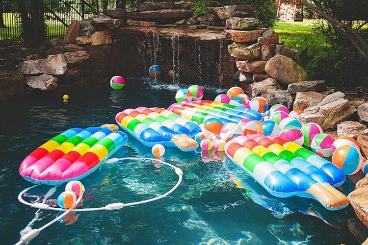 popsicle pool floaties summer party