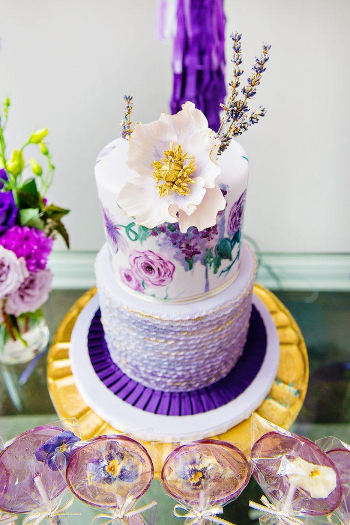 ombre purple party