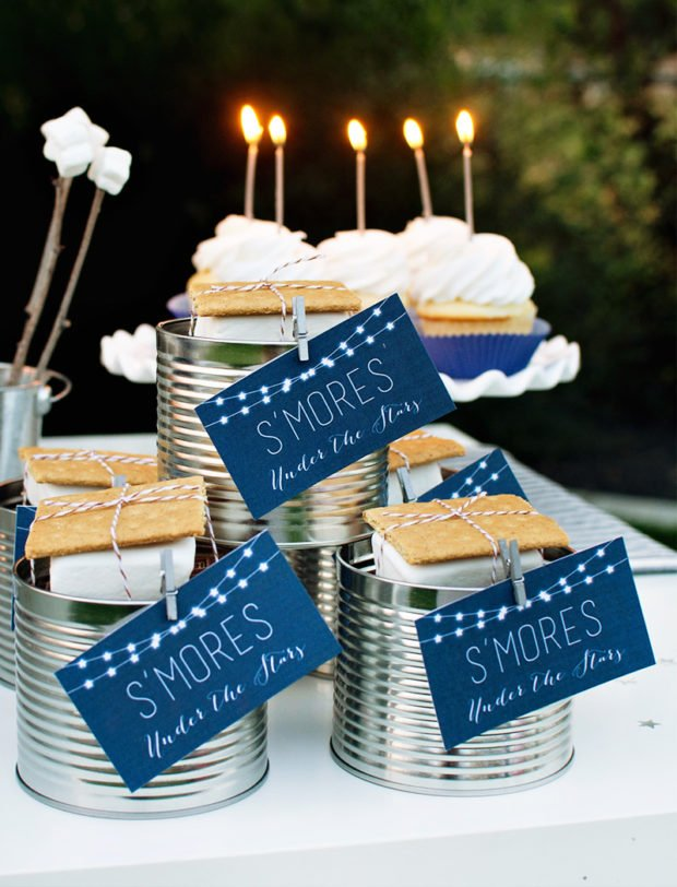 fabulous fourth of july s'mores bar