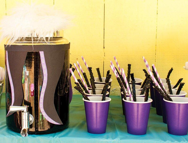 ursula themed drink station