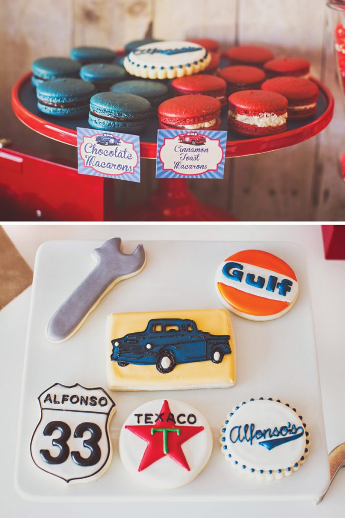 retro mechanic birthday cookies