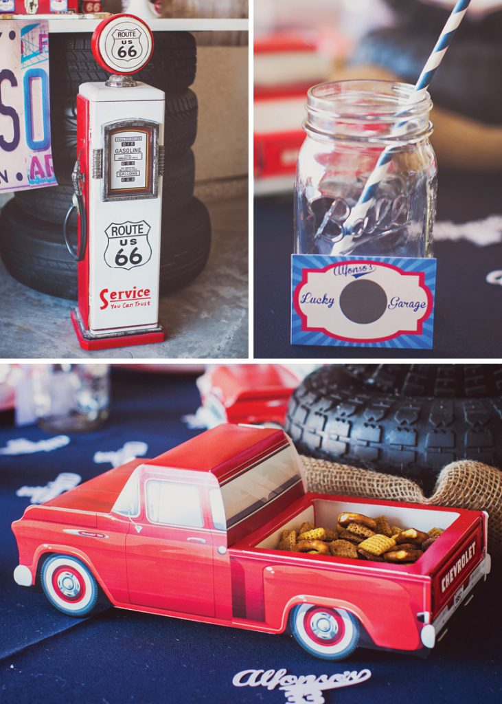 paper vintage truck party decor