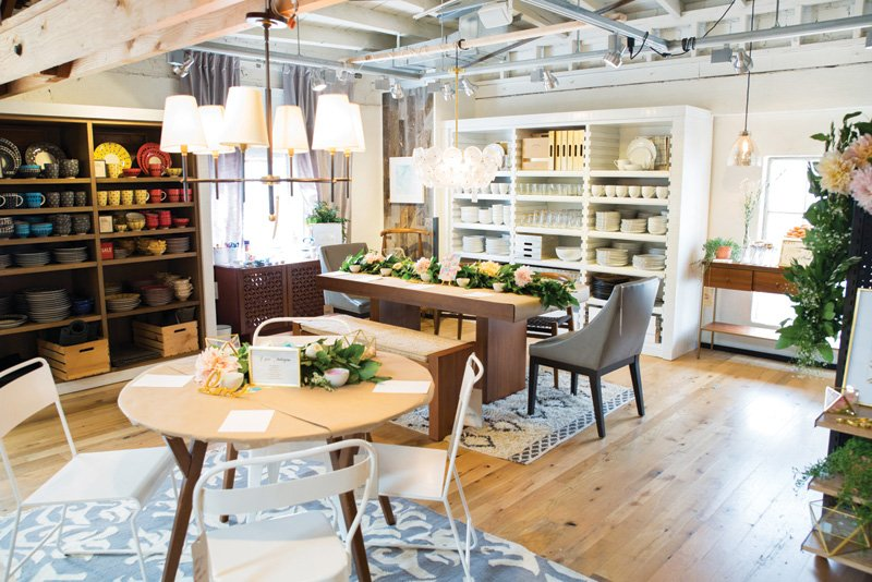 west elm party decor and furniture