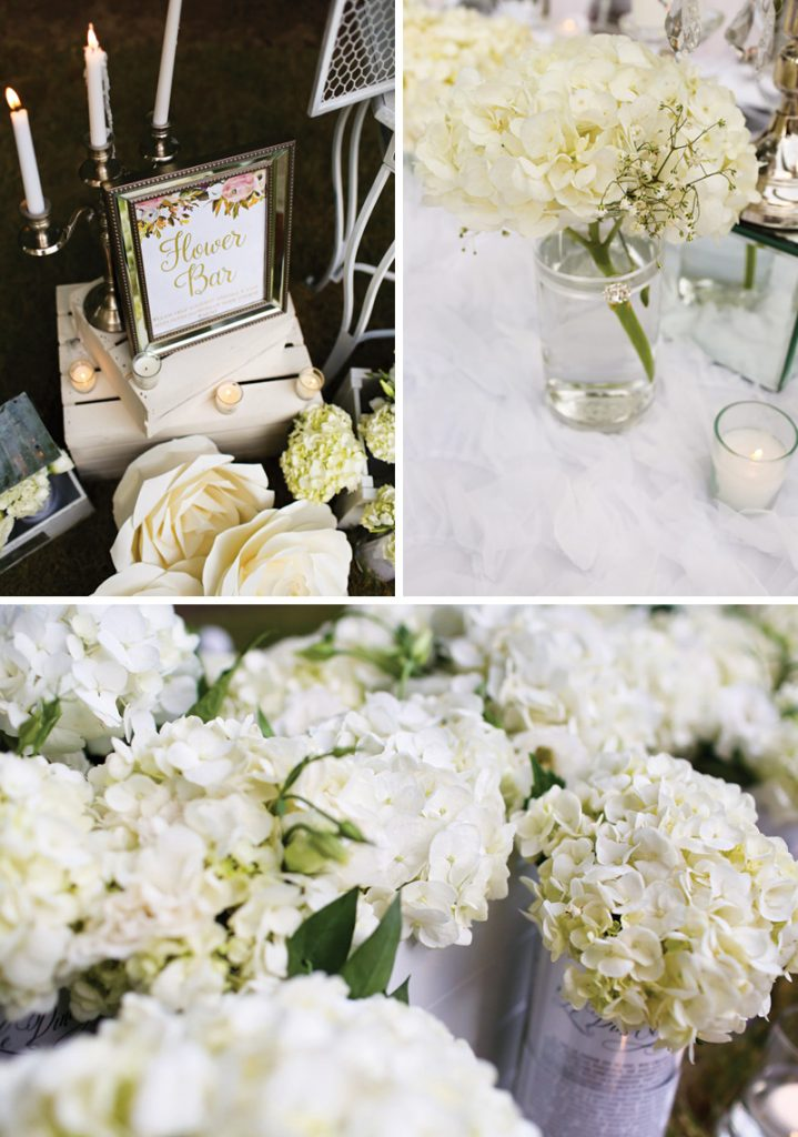 white party flower bar
