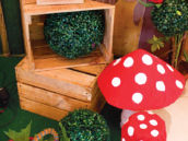 DIY painted toadstools