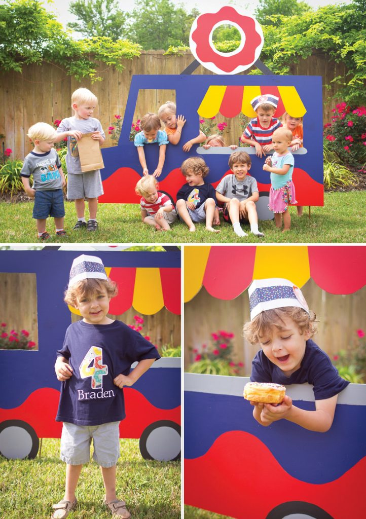 DIY wooden kids play truck photo booth prop