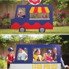 DIY wooden truck photo booth prop