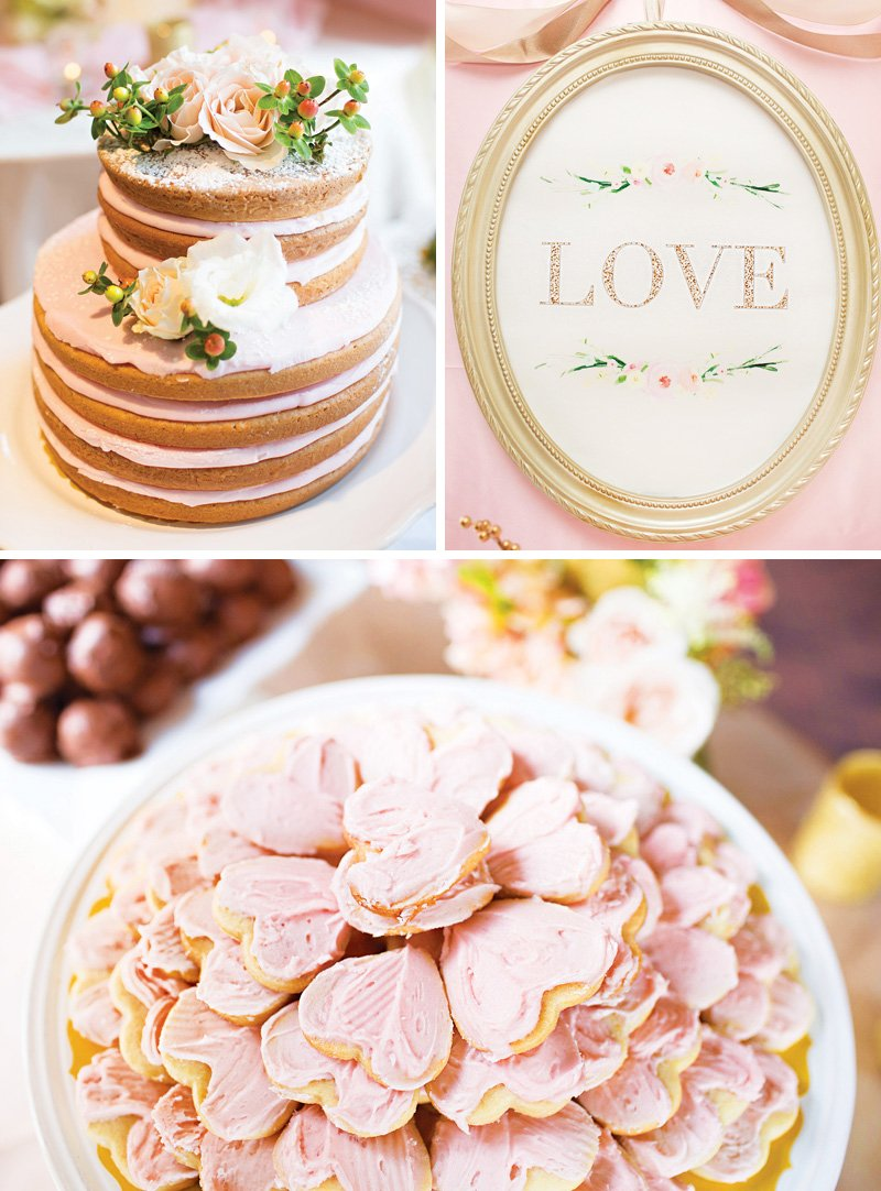 Love themed wedding desserts